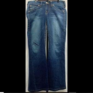 True Religion Women Joey Twisted Seam Flare Jeans